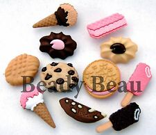 Cookies & Cream Dress it up novelty plastic craft buttons