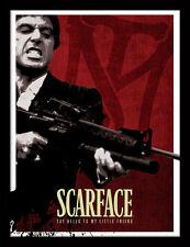SCARFACE ROSSO SANGUE-incorniciato 30 x 40 Stampa Ufficiale