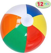 Ballons de Plage Arc-en-Ciel 12 pièces Jouets Gonflables Piscine Plage Fête Mer