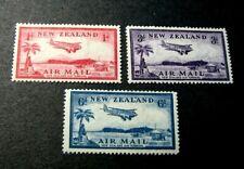 New Zealand Stamp Scott#  C6-C8 Airplane over Landing Field 1935 MH  C551