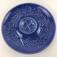 "Bordallo Pinheiro Scallop Seafood Plate 9"" Majolica Portugal Blue San Raphael"