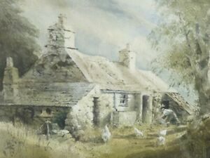 Keith Andrew RCA (Welsh) - Original Watercolour Painting - Anglesey Cottage.