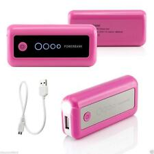 Pink 5600mAh USB External Battery Backup Power Bank For Mobile Phone iPhone iPad