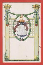 MÜNCHEN Biedermeier Karte Nr.2 Frau Mode Dirndl Bier Krug Quidenus Künstlerkarte