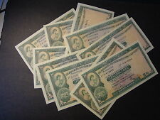 HONG KONG 1978,1980,1981,1982,1983 HSBC 10 DOLLARS,10 NOTES, ALL CHOICE AU+++ !