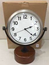 NEW (NON-WORKING) Pottery Barn Classic CARUSO LARGE DESKTOP Clock
