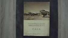 Catalogue des constructions aéronautiques CASA. - 1954 (en espagnol)