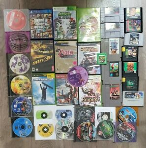 Mixed System Video Game Lot - Windwaker Final Fantasy Etc. AS IS NOT WORKING