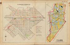 1906 E. ROBINSON CLARK TOWNSHIP UNION COUNTY NEW JERSEY GARWOOD PARK ATLAS MAP