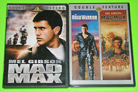 Sci-Fi Action DVD Lot - Mad Max (Used) The Road Warrior & Beyond Thunderdome NEW