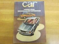 November 1977, CAR, Mel Nichols, NSU Ro80, BMW 728, Mercedes-Benz 280E.