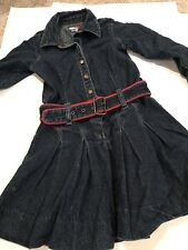 TOMMY HILFIGER 4T denim belted girls dress, long sleeve, FREE SHIPPING!