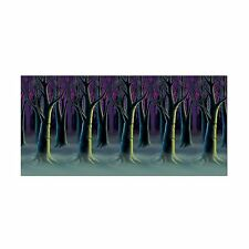 "Halloween SPOOKY FOREST TREES BACKDROP Party decoration PHOTO BOOTH 48"" X 360"""