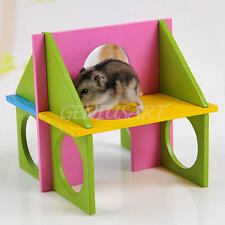Wood House Villa Cage Exercise Toy for Hamster Hedgehog Mouse Rat New