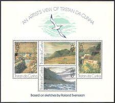 Tristan da Cunha 1976 Cottage/Views/Landscape/Art/Paintings/Artists m/s (n41153)
