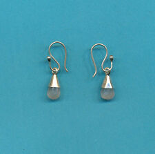 Himilayan White Ice Quartz Sterling Silver Earrings from Nepal Tibetan Buddhist