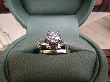 *UNIQUE DIAMOND & WHITE GOLD ENGAGEMENT/WEDDING SET WITH APPRAISAL*
