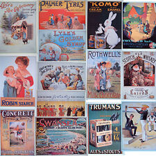 Advertising Postcards Set of 14 British Vintage Adverts, Lyle's Golden Syrup,New