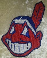 """Cleveland Indians  3.5"""" Chief Wahoo Iron On Embroidered Patch ~FREE SHIP!!~"""