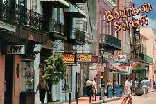 Bourbon Street, French Quarter, New Orleans, Louisiana, Panda Bear etc. Postcard
