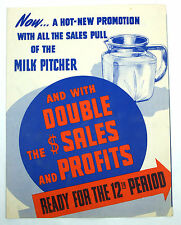 1940's Grocery Store Advertising Marketing - 3 pc. Refrigerator Set w/ Purchase