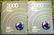 2000 Ford Escort Service / Shop Manuals Set of 2