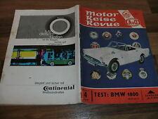 MOTOR REISE REVUE  (AvD)  4/1964 -- Test:  BMW 1800 und SIMCA 1500