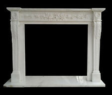 Hard Carved French design mantel with acanthus leaves legs and Floral Carvings