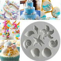 DIY 3D Silicone Seashell Conch Fondant Cake Mold Cookies Chocolate Baking Mould
