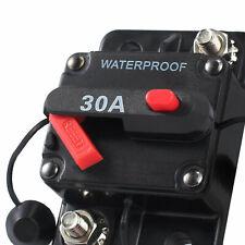 30Amp Circuit Breaker with Home Fuse Holder DC 12v/24v for Car Audio