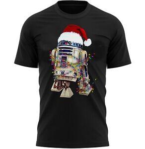 R2D2 Droid Xmas Lights Christmas T-Shirt Gifts For Men & Women