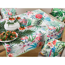 Occasion Gallery Multi Color Printed Flamingo Table Topper / Tablecloth , 5