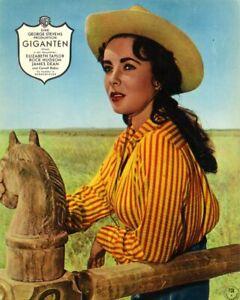 Einzelportrait ELIZABETH TAYLOR in GIGANTEN | Original Aushangfoto 1950er Warner