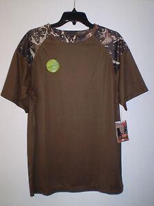 Mens Shirt Camouflage Short Sleeve Performance Speed Dry M MEDIUM