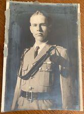 Vtg Wwi Era Photograph Young European Soldier in Uniform Fourragere w Tassels