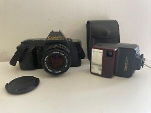 Canon T70 SLR Film Camera | 50mm FD Lens | Fully Working | Inc Canon 277T Flash