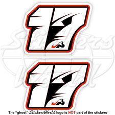 """JULES BIANCHI 17 Schwarz Formel 1 Fahrer F1 75mm (3"""") Vinyl Sticker Aufkleber x2"""