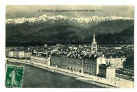 CPA 38 Isère Grenoble Vue générale et la Chaine des Alpes