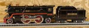 Lionel Standard Gauge 2-4-2 390E Steam Locomotive and 390T Tender