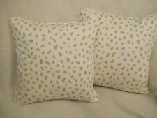 """TANZANIA BY THIBAUT 1 PAIR OF 18"""" CUSHION COVERS - DOUBLE SIDED & PIPED!"""