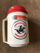 A VERY RARE vintage Winchester Ammunition travel insulated coffee mug!!