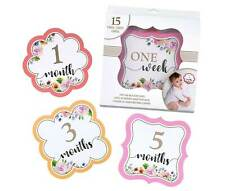 Pink Watercolor Milestone Card Set (1-15)