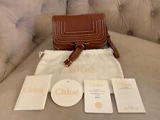 Chloe Marcie Glossy Leather Convertible Belt Crossbody Bum Bag Clutch Brown NWT!