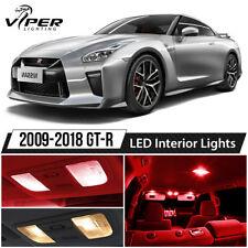 Red LED Interior Lights Package Kit for 2009-2018 Nissan GTR GT-R