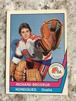 1977-78 RICHARD BRODEUR O-PEE-CHEE  OPC WHA  CARD #38 QUEBEC NORDIQUES