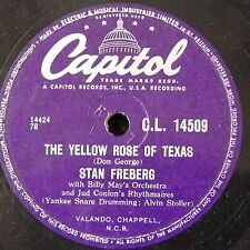78rpm STAN FREBERG yellow rose of texas / rock around stephen foster