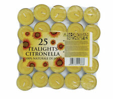 Citronella Tea Lights - Pack of 25 Candles Wax Tealights