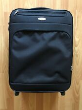 samsonite carry on cabin suitcase luggage 2 wheels soft case black pockets