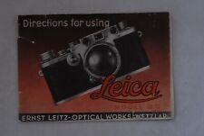 Original Leica IIIC Instruction Book Manual, 3C