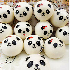 1X Randomly Panda Squishies Kawaii Buns Bread Smell Charms Cellphone Straps HC